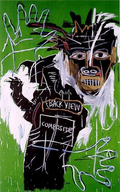 """Self-Portrait"" Jean-Michel Basquiat. Basquiat was a Haitian-American artist… Keith Haring, Jean Basquiat, Jean Michel Basquiat Art, Pop Art, Tachisme, Images Vintage, Jasper Johns, Art Brut, Arte Pop"