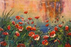 Poppies Evening Glow by Richard Ponder - this could be the one for my lounge!