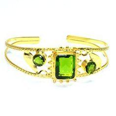 New Design peridot Gemstone Brass bangle #wedding bangle