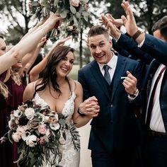 Hands up for the new couple 🙌🏼😍 Merlot Chiffon Mumu Wedding, Rustic Wedding, Chiffon, Hands, Crown, Weddings, Couples, Instagram, Fashion
