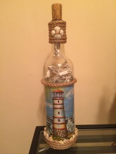 Decoracion de Botellas cón FAROS
