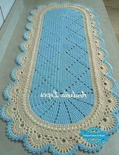 Diy Crafts - Crochet,Free-A Beaut Oval Rug [Free Crochet Pattern and Video Tutorial] A Beaut Oval Rug [Free Crochet Pattern and Video Tutorial] Crochet Mat, Crochet Carpet, Crochet Doily Patterns, Crochet Round, Crochet Doilies, Free Crochet, Diy Crafts Crochet, Oval Rugs, Crochet Table Runner