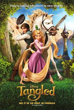 """Tangled Starring: Mandy Moore as Rapunzel, Zachary Levi as Eugene """"Flynn Rider"""" Fitzherbert. My favorite American computer animated musical fantasy-comedy film Tangled Movie, Tangled 2010, Tangled Funny, Tangled Cartoon, Tangled Party, Tangled Birthday, Disney Animation, Disney Films, Disney Cartoons"""