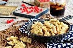 Homemade Rach Cheese Crackers.  Recipe at TidyMom.net