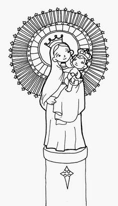 Las 67 imágenes más inspiradoras de Virgen del Pilar | Virgin mary