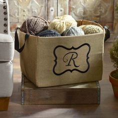 Keep your home organized with our Burlap Monogram Storage Bins! You can use them in your bedroom, bathroom, living room and any other room in your home. Burlap Monogram, Monogram Shop, Monogram Gifts, Personalized Gifts, Diy Furniture Decor, Kirkland Home Decor, Vintage Room, Home Organization, Organizing