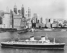 ss america 1943  May aunt and I were passengers: New York to Bremerhaven - September 1953  Crossing the Atlantic was an incredible adventure for a young girl!