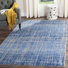 Safavieh Adirondack Modern Abstract Blue/ Silver Area Rug (8' x 10')