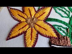 Hand Embroidery - Lace Stitch Embroidery For Beginners Hello friends welcome to crafty creations. In this video we will show you how to sew lace stitch hand embroidery for beginners, feather stitch, lazy daisy stitch, french knot , stem stitch for beginn Basic Embroidery Stitches, Hand Embroidery Flowers, Hand Embroidery Tutorial, Flower Embroidery Designs, Beaded Embroidery, Flower Designs, Embroidery Patterns, Sewing Patterns, Simple Flower Design