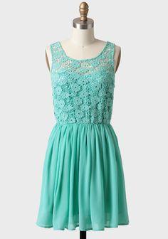Parade's End Crochet Detail Dress In Mint