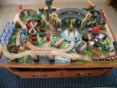 Image result for traintable layout · Toy TrainsModel TrainsTrain TableWooden TrainThomas ... & Thomas train table track design | Learninggirls | Pinterest | Thomas ...