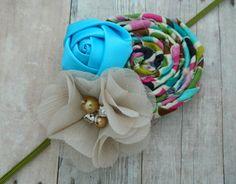 Blue Ivory & Multicolor Flower Baby by RosesAndRocketships on Etsy