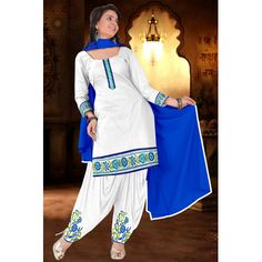 Buy Louis Vogue White Georgette Semi Stitched Suit by LOUIS  VOGUE, on Paytm, Price: Rs.999?utm_medium=pintrest