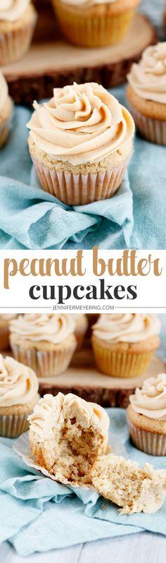 Peanut Butter Cupcakes - JenniferMeyering.com