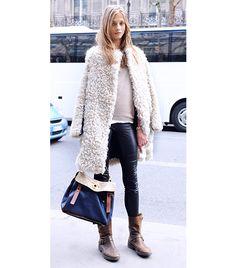 Anna Selezneva. Perfect coat. Perfect pants.