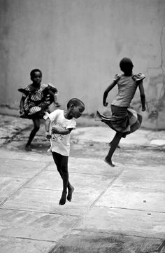 Africa | Children dancing in the streets of Lagos.  Nigeria | ©Jacob Holdt / Shol GK, via flickr