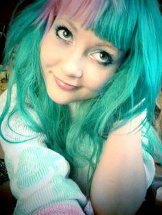 teal + pink mermaid hair