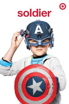 Every boy wants to be a superhero. Give him that chance this Christmas with a Captain America Stealthfire Shield that fires up to 20 feet and light-up Battle Helmet with rocket launcher.