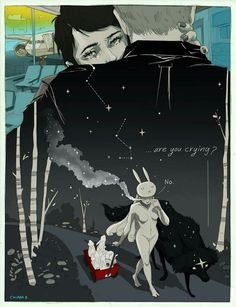 """""""Are you crying?"""" """"No"""" -Chiara Bautista. (I love her art so much freaking much)"""