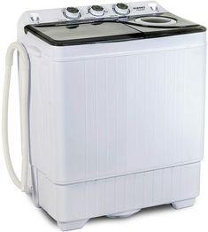 Enjoy exclusive for KUPPET Compact Twin Tub Portable Mini Washing Machine Capacity, Drain Pump/Semi-Automatic (White&Gray) online - Onlineshoppingoffers Compact Washing Machine, Mini Washing Machine, Washing Machines, Spin Dryers, Compact Laundry, Drain Pump, Tub, Gray, Amazon