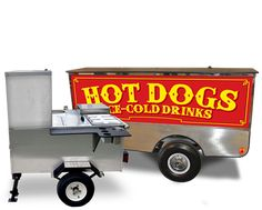 Two mobile food carts