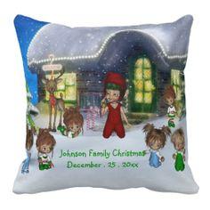 ElfMagic Home For Christmas Elves Pillow