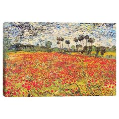 Add gallery-worthy appeal to your walls with this canvas print of Vincent van Gogh's Field of Poppies.   Product: Canvas p...