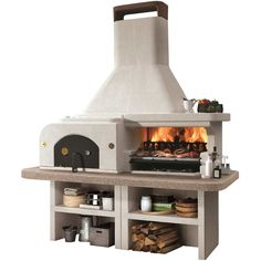 Barbecue pierre GARGANO avec four à pizza