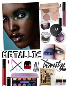 """Metallic Beauty"" by andrea-tatis on Polyvore featuring Belleza, Sephora Collection, Anastasia Beverly Hills, Urban Decay, Lancôme, tarte, Marc Jacobs y NARS Cosmetics"