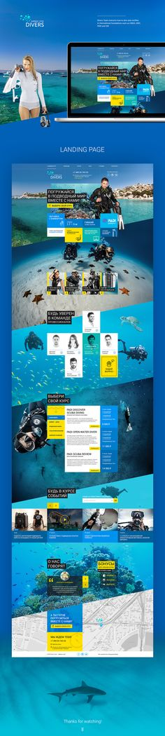 Divers Team— Dive Center on Web Design Served