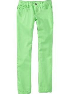 Girls Super Skinny Pop-Color Jeans | Old Navy