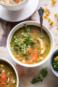 Slow Cooker Hearty Chicken Soup | halfbakedharvest.com #crockpot #soup #healthy #recipe
