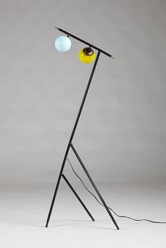 Floor lamp, anonymous. Stilnovo, Italy. 1950's.