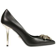 ef1e71458f93 VERSACE Versace Heels.  versace  shoes  versace-heels. Versace HeelsLeather  PumpsBlack ...
