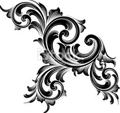 Victorian Scrollwork Patterns   Victorian Scroll Patterns  shows more of the white