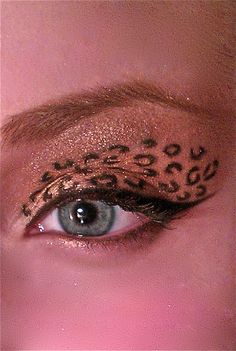 Cheetah print I did on myself! some folks take it too damn far... LMAO wth would u wear this to? & how long would u need to stand in the mirror to draw those circles ?