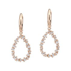 Cercei aur roz 14K si cristale albe ACGP06814 | Teilor Aur, Chain, Earrings, Jewelry, Crystal, Ear Rings, Stud Earrings, Jewlery, Jewerly
