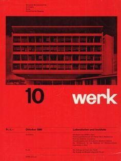 """jonasgrossmann: """"werk"""" band 47, heft 10, 1960 @ seals"""