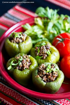 Spece të mbshur - Albanian stuffed peppers. PS. There's a wine  pairing for this, too!