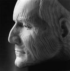Jilly Sutton carved a wooden portrait of the former Poet Laureate Andrew Motion - National Portrait Gallery's permanent collection