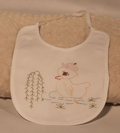 Baby Girl Duck Bib