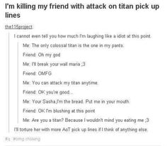 AoT pick up lines