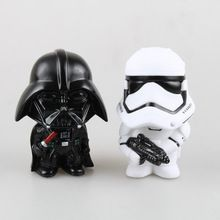 Star Wars Action Figure Black Knight Darth Vader Stormtrooper 13cm Little Figurine Brinquedos Kid Toys Figura Model Juguetes