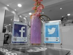 The team at The Strand in Chelmsford with their stunning social media display to make liking and following so simple for their customers whilst they wait for their beauty technician. An elegant and simple way to boost your followers we think. What do you think?