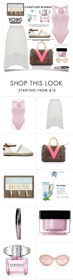 """""""Yoins"""" by violet-peach ❤ liked on Polyvore featuring Louis Vuitton, Thank You Farmer, Rimmel, Givenchy, Versace, Sunday Somewhere, yoins, yoinscollection and loveyoins"""