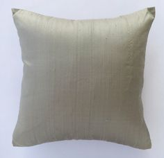 Kakhi Green (honey dew) dupaoni silk cushion cover- new arrivals-throw pillow modern contemprory 18×18