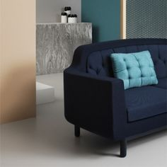 Cloud cushion by Normann Copenhagen + awesome blue couch