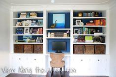 Room Reveals - various rooms.  Love this bookshelf/desk wall