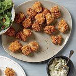 Crispy Fish Nuggets with Tartar Sauce Recipe | MyRecipes.com