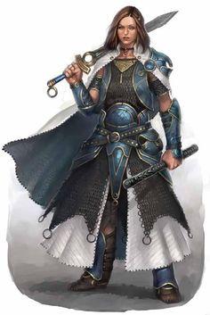 f Paladin plate armor sword magic rod Human Female Knight. Fantasy Female Warrior, Female Armor, 3d Fantasy, Fantasy Armor, Fantasy Women, Medieval Fantasy, Woman Warrior, Female Knight, Forgotten Realms